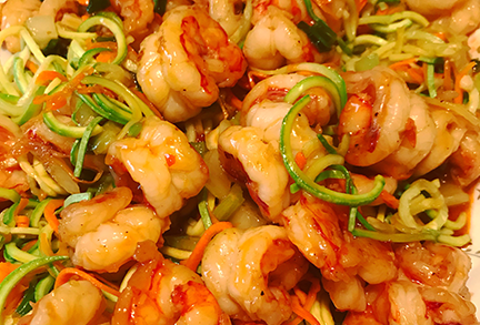 cooking Asian shrimp classes ouest island montreal